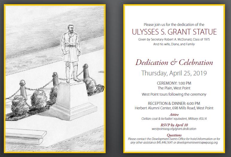 Ulysses S. Grant Ceremony Invite