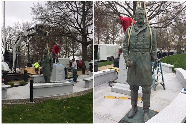 Grant Statue Installation